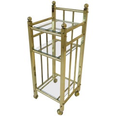 Brass and Glass Bart Cart