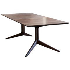 Light Extending Dining Table in Walnut by Matthew Hilton