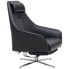 DS-277/11 Recliner in Black Leather by Christian Werner
