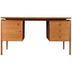 Mid-Century Modern Danish Teak Desk by Arne Vodder for G.V Møbler, 1960s