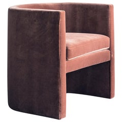 Arc Chair in Sienna Velvet with Hardwood Frame by TRNK