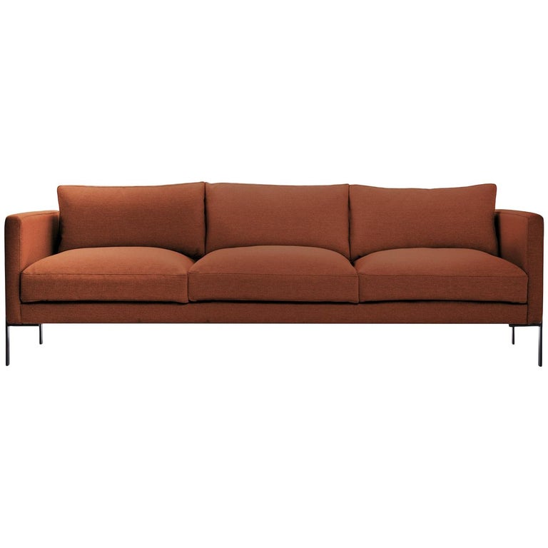 Truss Sofa in Maharam Chestnut Fabric & Powder-Coated Steel by TRNK