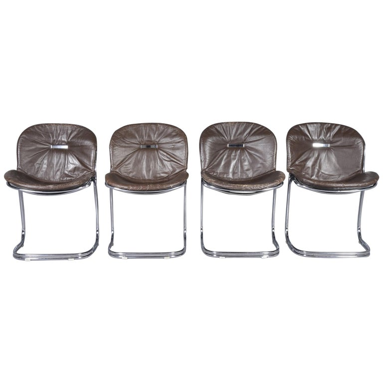 Model Sabrina Chairs by Gastone Rinaldi for Rima, 1970s, Set of Four