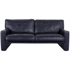 Erpo CL 300 Leather Sofa Deep-Blue Two-Seat Couch