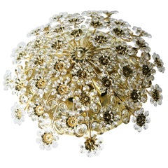 Palwa Flush Mount with Swarovski Crystals, Germany, 1960s