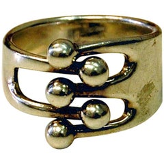 Ball Ring or Jester Ring by Anne Greta Eker for Plus 1960s, Norway