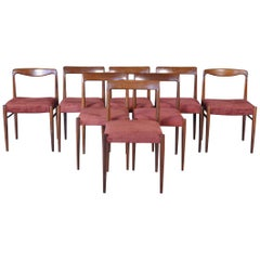 Mid-Century Modern Rosewood Dining Chairs from Lübke, 1960s, Set of Eight