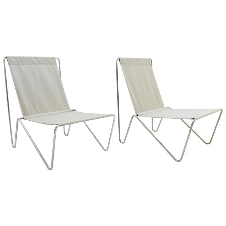 Pair of Verner Panton Bachelor Chairs, 1960s, New Canvas