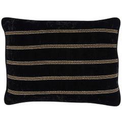 Farnsworth Hand Embroidered Black Velvet Pillow Cover