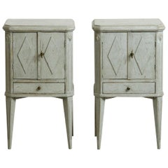 19th Century Pair of Gustavian Style Bedside Cabinets