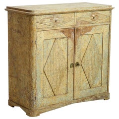 Fine Two-Doors Sideboard, Scraped Down to Original Paint, circa 1820