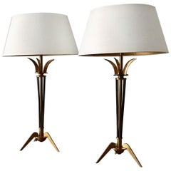 Pair of 1950 French Table Lamps by Maison Arlus
