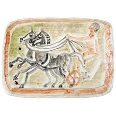 Wagenlenker by Eduard Bargheer, 1971-1972, Very Rare Wall Plate
