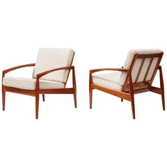 Kai Kristiansen Paper Knife Lounge Chairs, Teak