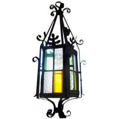 French Stained Glass Lantern