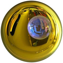 Golden Yellow Concave Mirror One of a Kind by Christophe Gaignon
