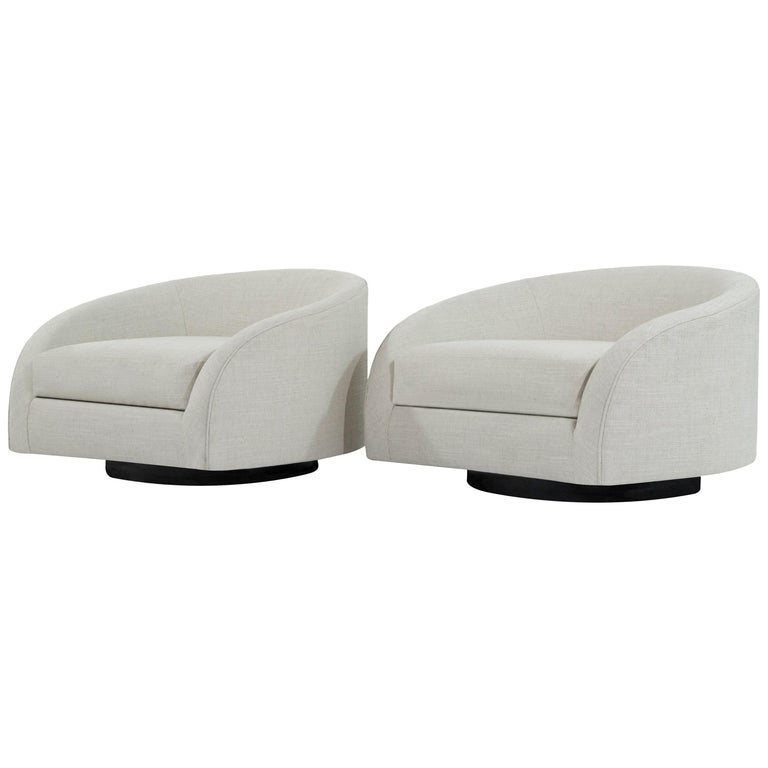 Adrian Pearsall Swivel Cloud Lounges, circa 1950s