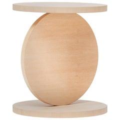 Baleri Italia Match Point Tall Coffee Table in Bleached Oak by Omri Revesz