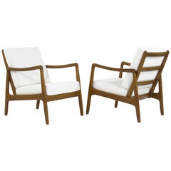 Scandinavian Teak Lounge Chairs, Model FD109 by Ole Wanscher