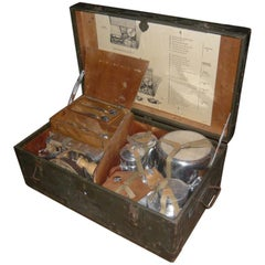 French Army Trunk Provided with Cooking Equipment from 1950s