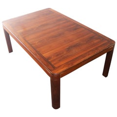 1970s Midcentury Large Danish Rosewood Coffee Table
