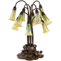 Ten-Light Lily Table Lamp by Tiffany Studios