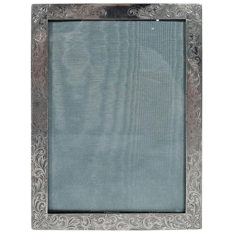 Antique American Edwardian Sterling Silver Picture Frame