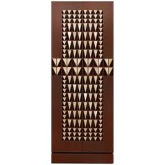 Unique Contemporary Geometric Cabinet with Onix Stone