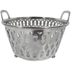 Antique Tiffany Edwardian Sterling Silver Ice Bucket