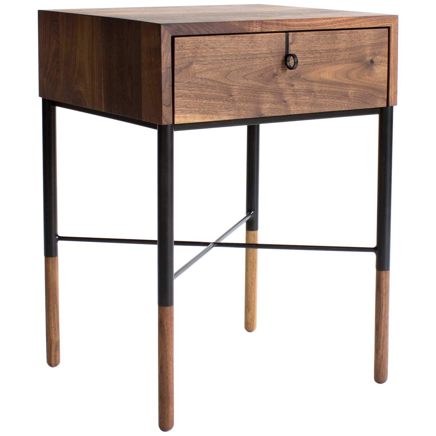 Phillip Walnut Nightstand and Side Table