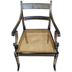 English Regency Greek Key Design Side Chair, 19th Century
