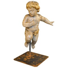 French 17th Century Statue of Putto - Angel