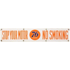 "1950s Union 76 ""No Smoking"" Porcelain Advertising Sign"