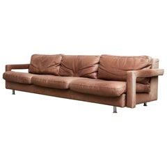 Massive Leather Sofa by Molinari
