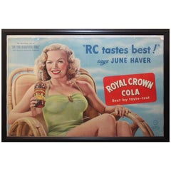 1940s RC Royal Crown Cola Litho Cardboard Advertising