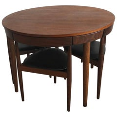 Danish Midcentury Hans Olsen for Frem Rojle Compact Dining Table Set