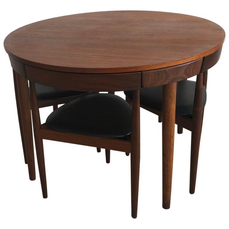 Danish Midcentury Hans Olsen for Frem Rojle Compact Dining Table Set