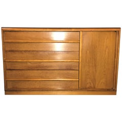 Mid-Century Modern TH Robsjohn-Gibbings Three Drawers Chest with Side Door