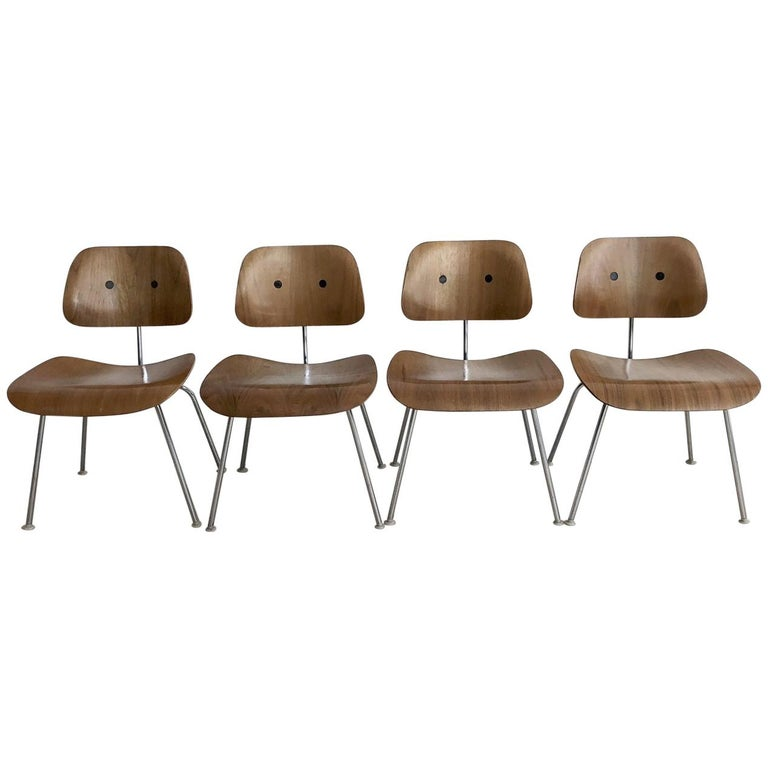 Early Eames for Herman Miller DCM Dining Chairs, Set of Four Chairs