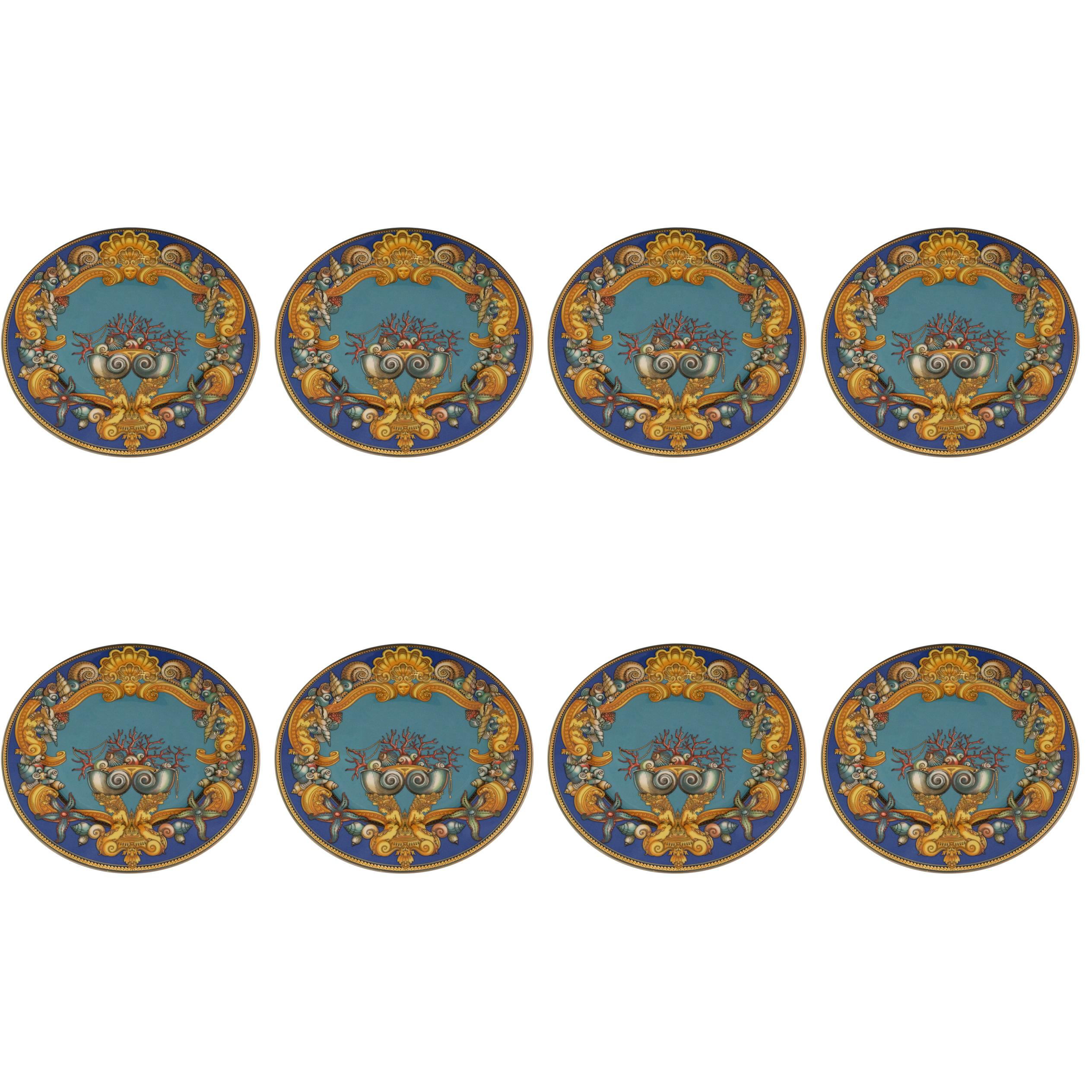 Fabulous Set of Eight Barely Used Versace La Mer Charger Plates Rosenthal China  sc 1 st  1stDibs & German Dinner Plates - 68 For Sale at 1stdibs