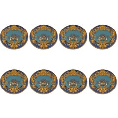 Fabulous Set of Eight Barely Used Versace La Mer Charger Plates, Rosenthal China