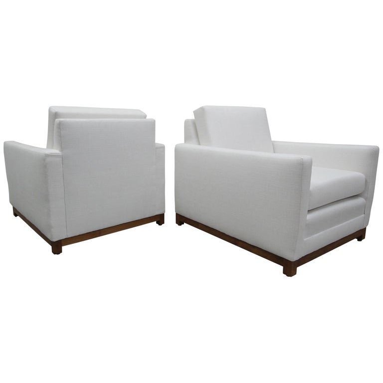 Pair of Midcentury Craftsman Style Lounge Chairs