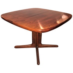 Danish Modern Centre Breakfast Dining Table Signed by Denmark No Leaves