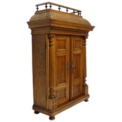 Cabinet Maker's Miniature Scale Model of a French Armoire, Late 19th Century