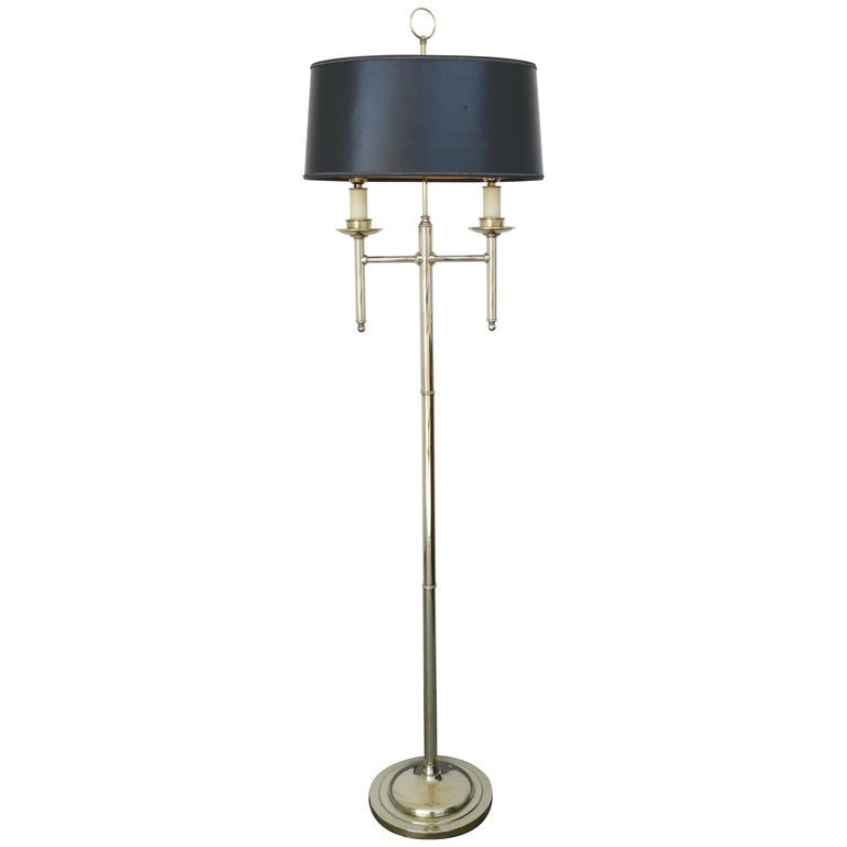 1960s French Floor Lamp in Brass
