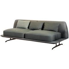Baleri Italia Trays Loveseat Sofa in Fabric by Parisotto and Formenton