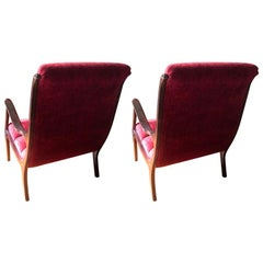 Pair of Ezio Longhi Italian Lounge Chairs, 1955 by Elam
