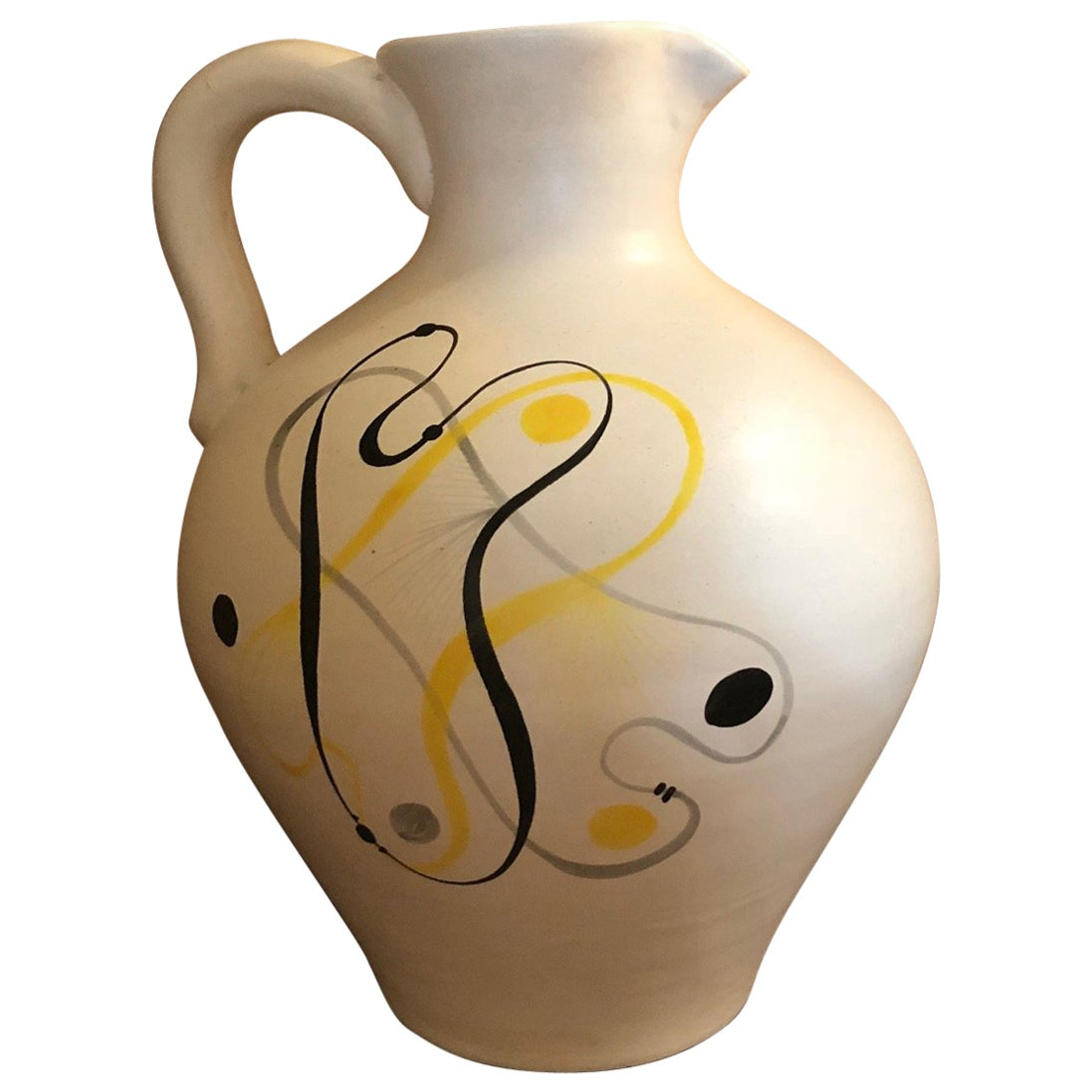 Ceramic Jug by André Baud, Vallauris