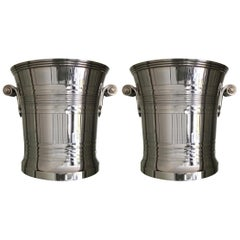 Boin-Taburet Pair of Art Deco Silver Coolers