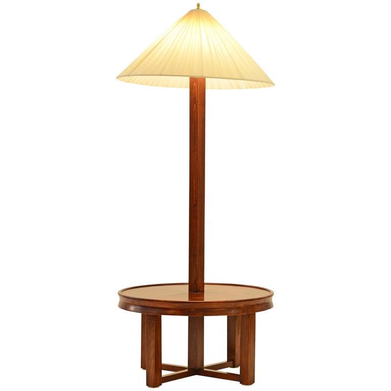 Josef Hoffmann Wiener Werkstaette Floor-Table-Lamp 1927 by Woka Vienna